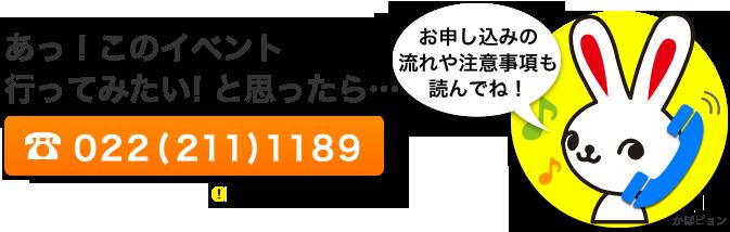 河北チケットセンター 022(211)1189